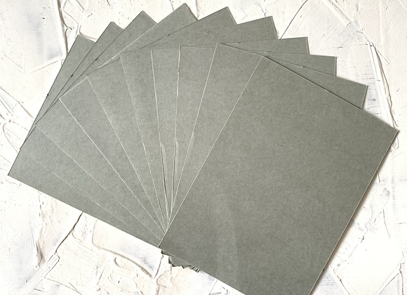 Smooth gray tinted paper A5 size