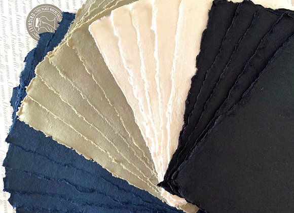 Deckled edge paper set . A5 size