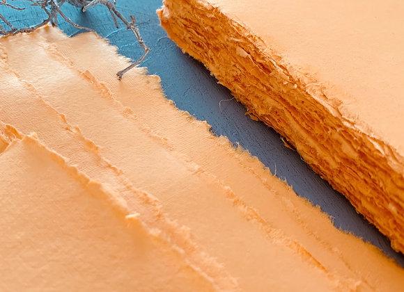 Orange deckle edge paper (A5)