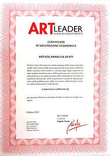 Coefficiente Artistico Annalisa Denti 2021