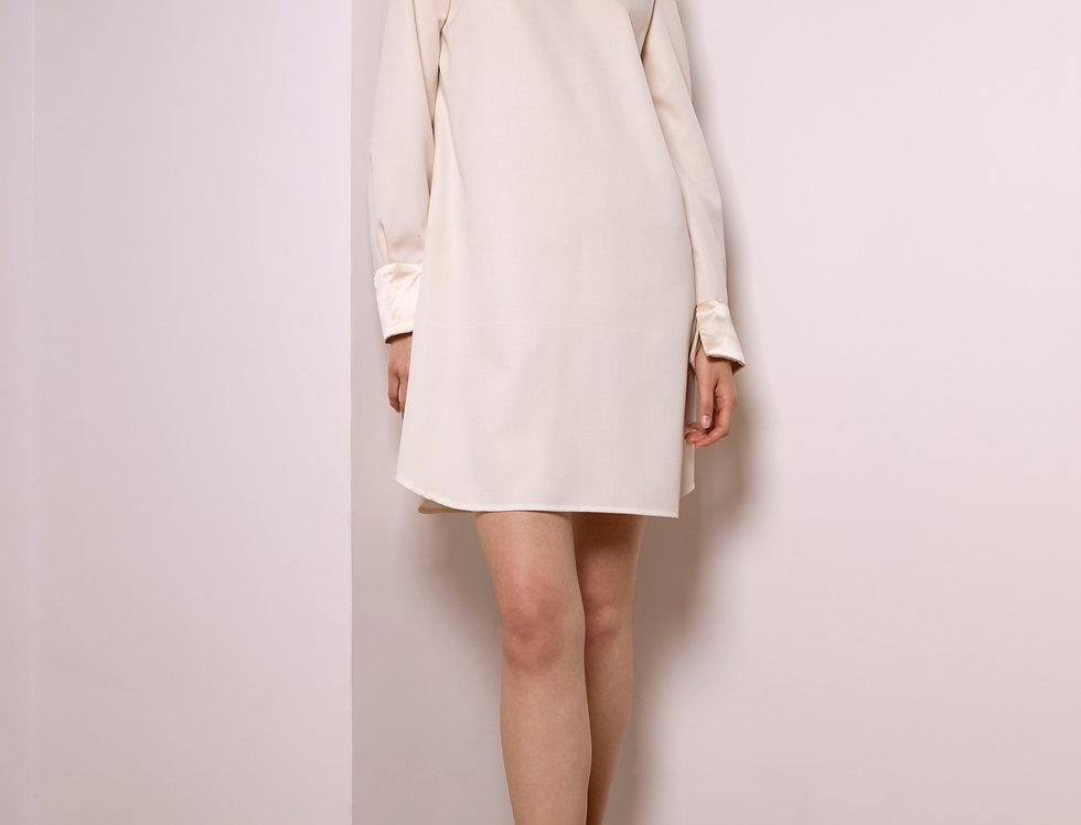 Moon cotton and silk dress