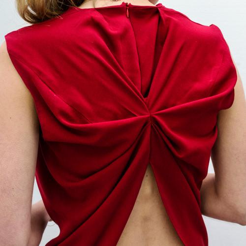 Draped viscose shirt                     180.00 €    Product number: PS01B