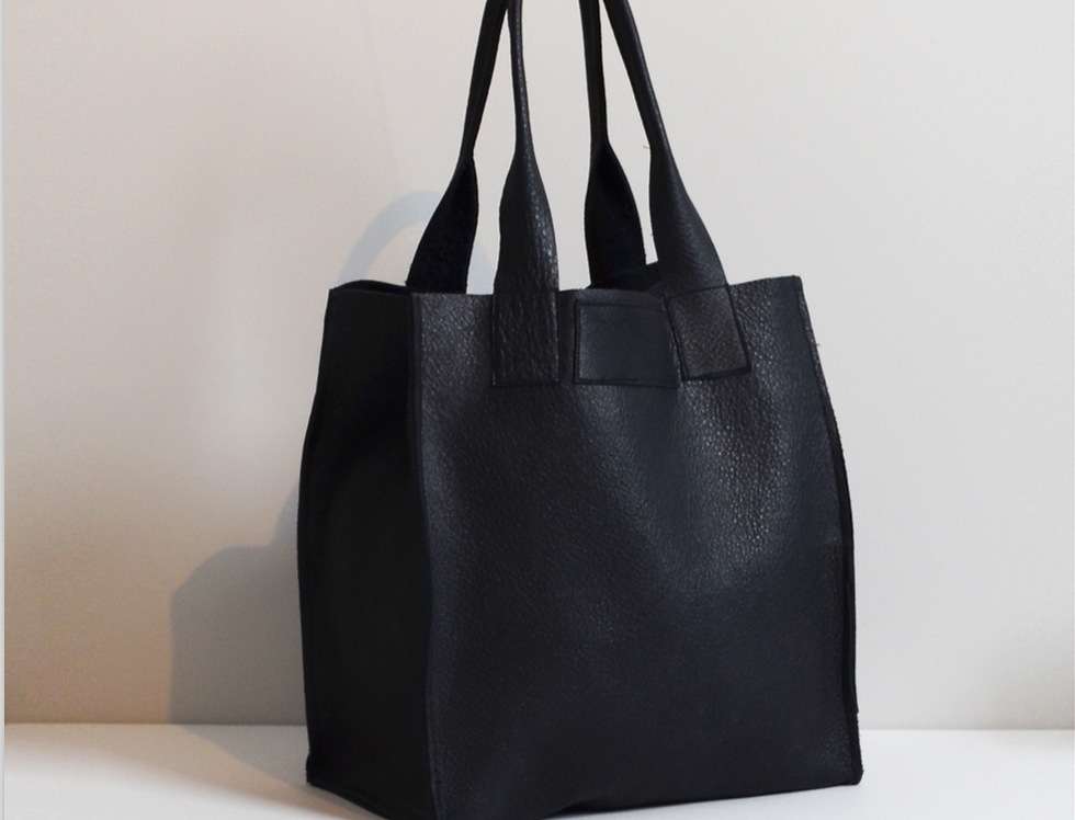 Smooth Leather Tote Bag Small