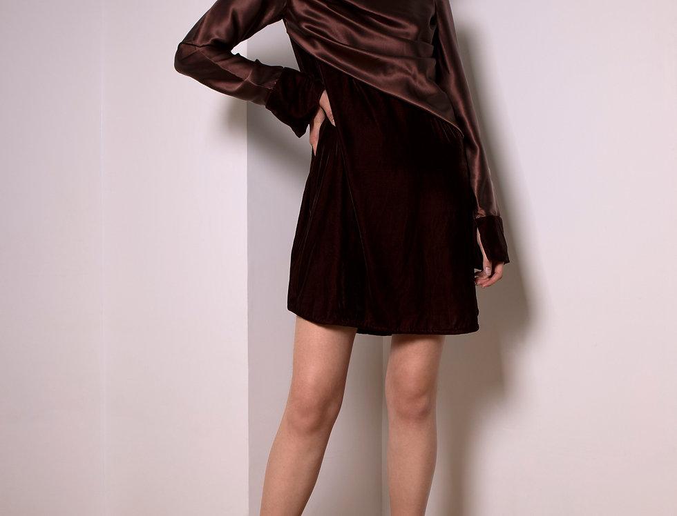 Moon velvet and silk dress
