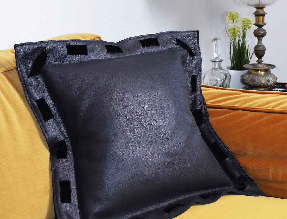 Smooth Leather Pillow Cover