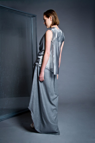 Draped silk and jersey shirt                       260.00 €    Product number: DIS02B