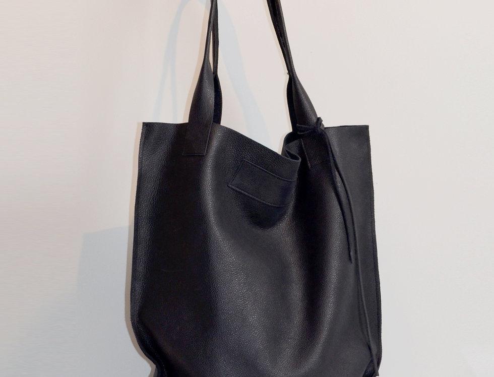 Smooth Leather Tote Bag Big