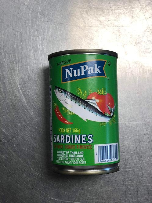Sardines Sauce tomate pimenté 155g