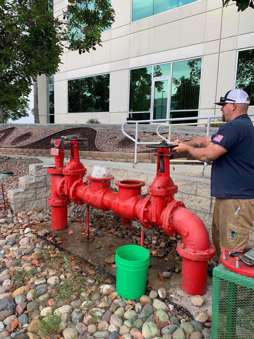 Fire System Backflow Flushing
