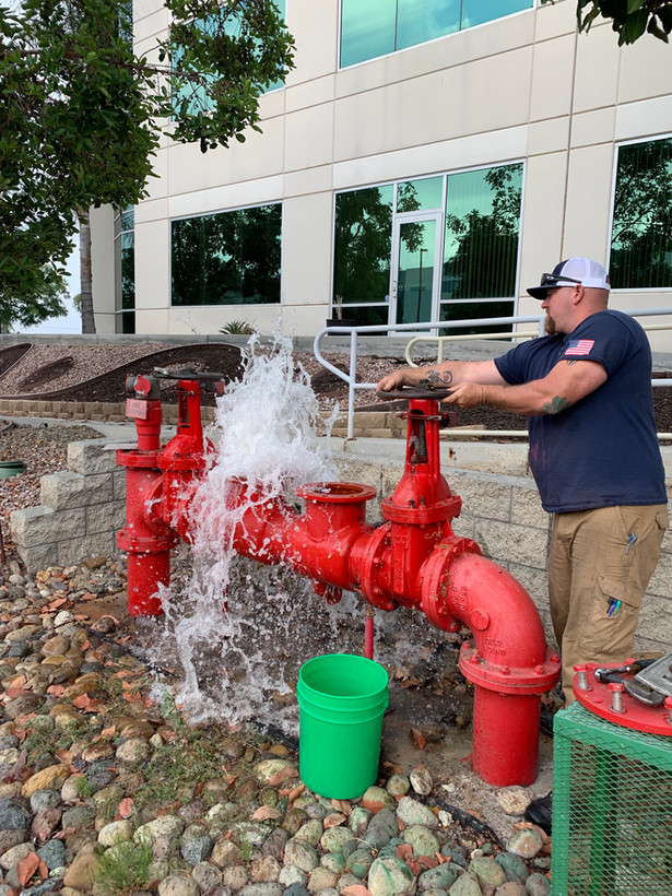 Repair of Leaking Backflow on the Fire System