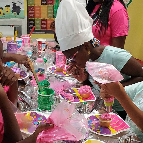 Campers are back in The Kids kitchen at
