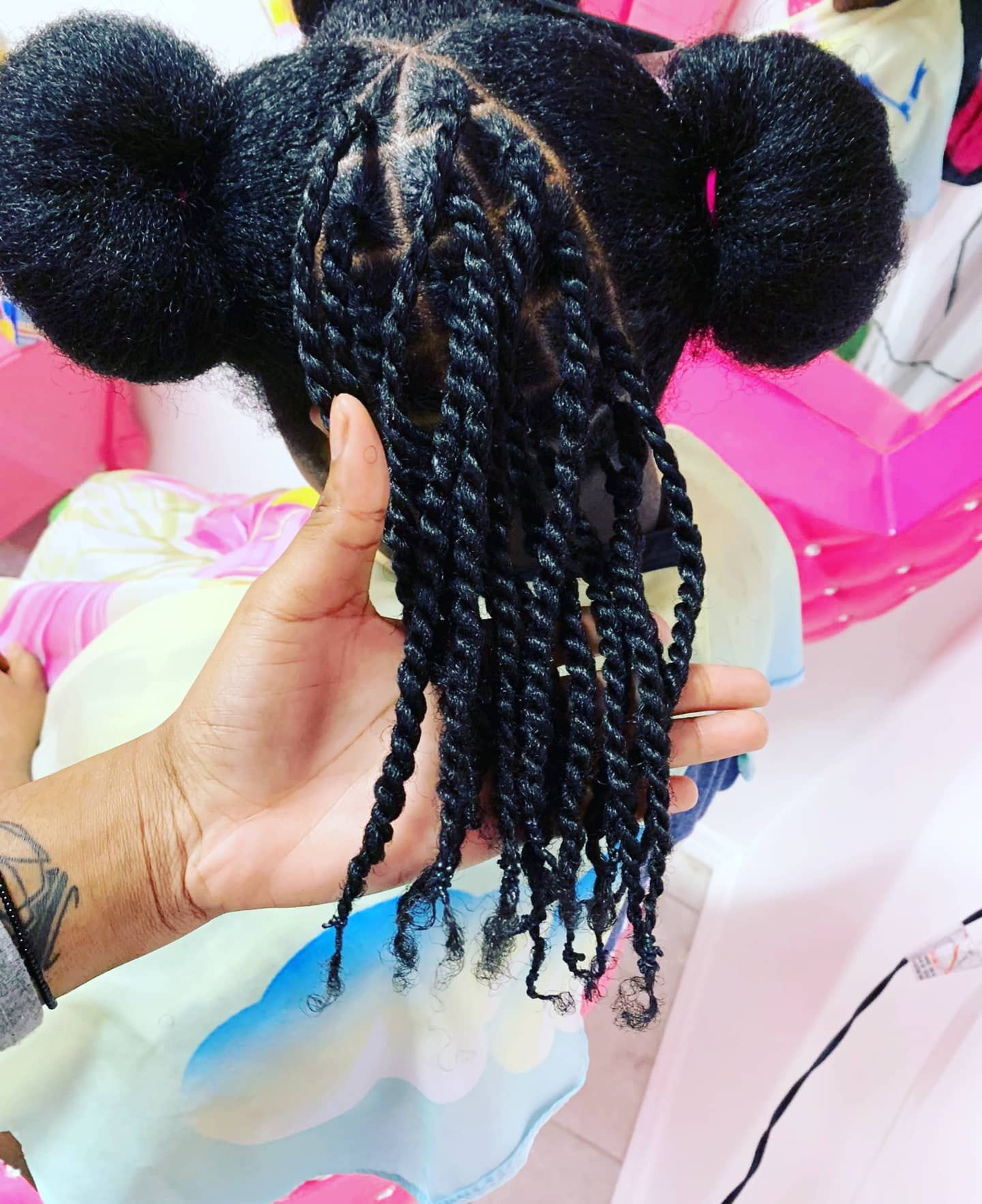 Double strand twist Natural Hair