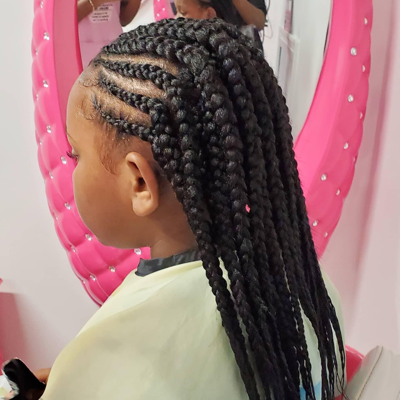 Box braids and cornrows