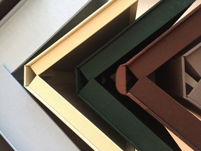 Clamshell boxes, view from above