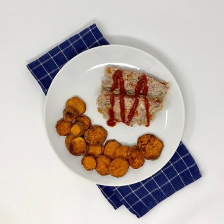 #Quick&EasyRecipes: Turkey + Veggie Meatloaf w/ Sweet Potato Fries