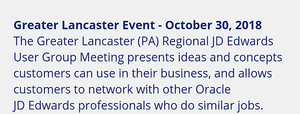 Third Annual Greater Lancaster (PA) Regi