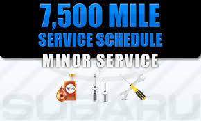 7500 Mile Service