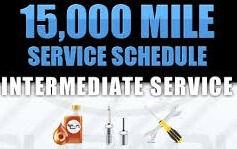 15000 Mile Service