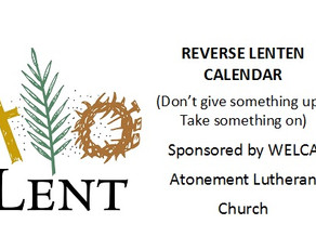 Reverse Lenten Calendar Pick-Up
