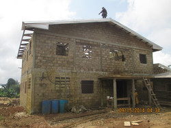 Iron roof sheeting was started today