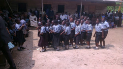 Brightland kids singing a welcome song.