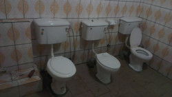 Toilettes set for use