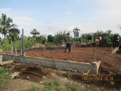 Foundation and plumbing finished