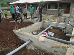 Plumbing for house under foundation
