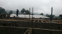 Almost set for pouring of concrete