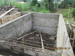 Depth of slope of foundation