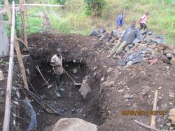 Safety tank excavation