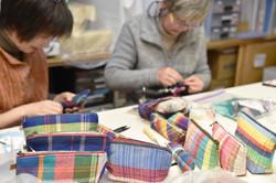 さをり織りのポーチ&ペンケース作り