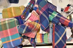 さをり織りのポーチ&ペンケース