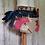 Thumbnail: Upcycled Denim Half Apron ~ Pink Floral