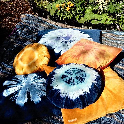 Vintage Blue Velvet Cushion Covers