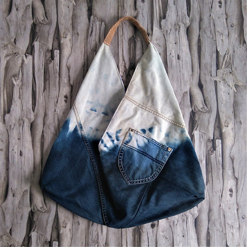 Reworked Denim Origami Bag