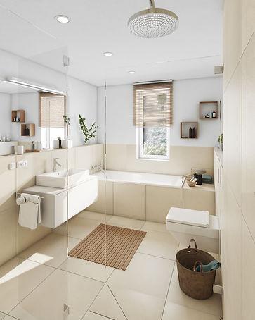 Waldkirch Quartier Papiergäßle Innenvisualisierung eines Badezimmers