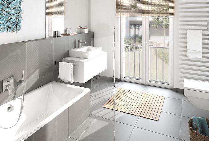 Freiburg, Zollhallenstrasse My Urban Living Visualisierung des Badezimmers mit der Ausstattung Pure Line