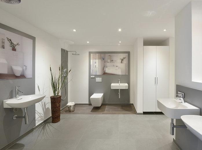 Showroom mit Blick auf die Ausstattung der Zollhallenstraße in den Räumen der Stuckert Wohnbau AG