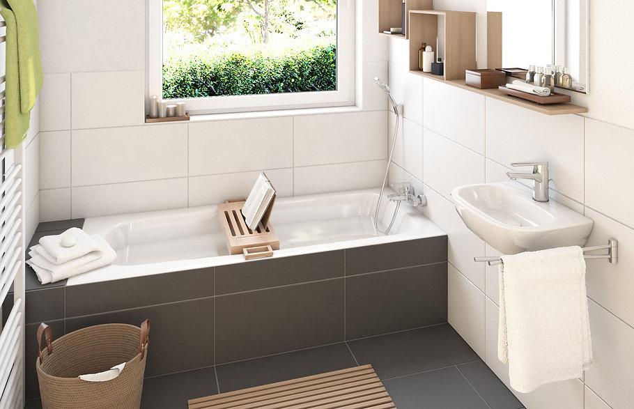 AVANTUM Innenvisualisierung eines Badezimmers in der Ausführung modern