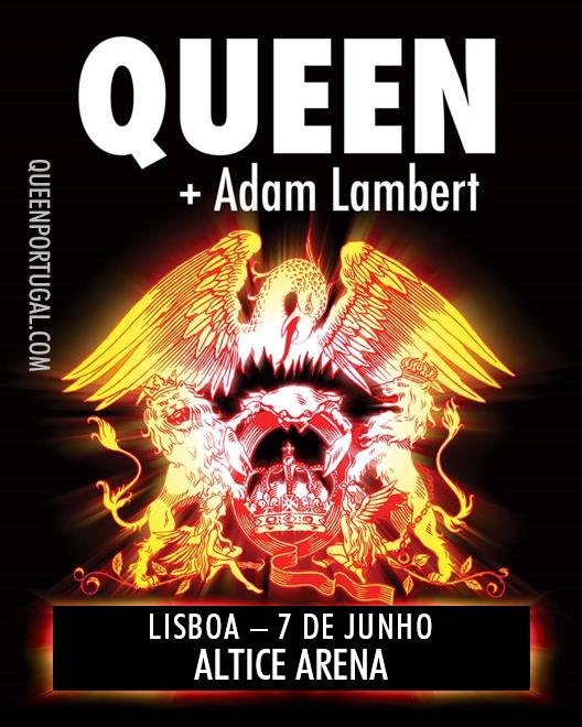 Queen + Adam Lambert de volta a Portugal dia 7 de Junho