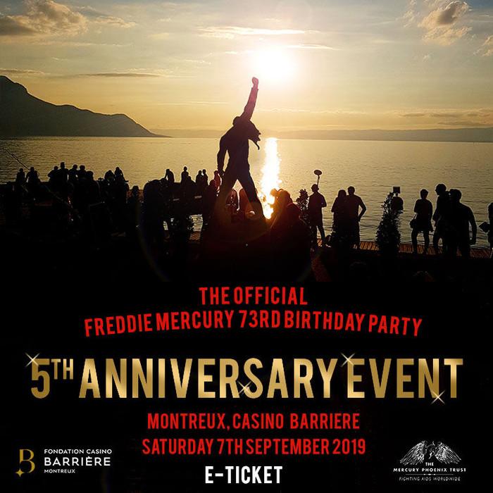 Festa Oficial do 73º Aniversário de Freddie Mercury - A 5ª Edição do evento - Já à venda!