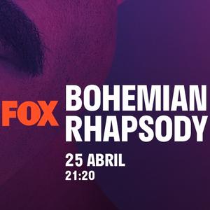Bohemian Rhapsody na FOX - Dia 25 de Abril às 21:20 (Domingo)