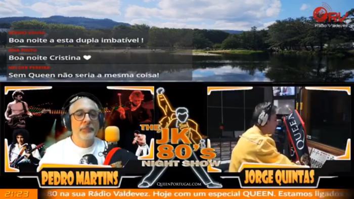 Fundadores do Queen Portugal falaram para o The JK 80's Night Show