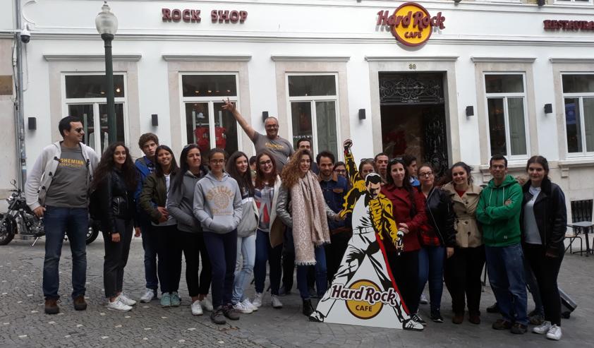 Acção de promoção do filme Bohemian Rhapsody junto ao Hard Rock Cafe Porto