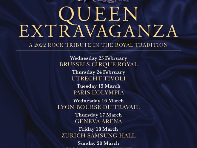 Queen Extravaganza - Datas europeias movidas para 2022