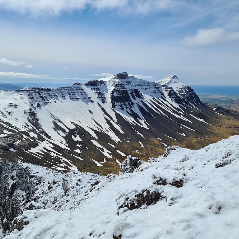 Súlárdalur - fimm tindar í Skarðsheiði