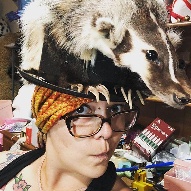 BADGER HAT!!! #badger #hats #etsy #taxid