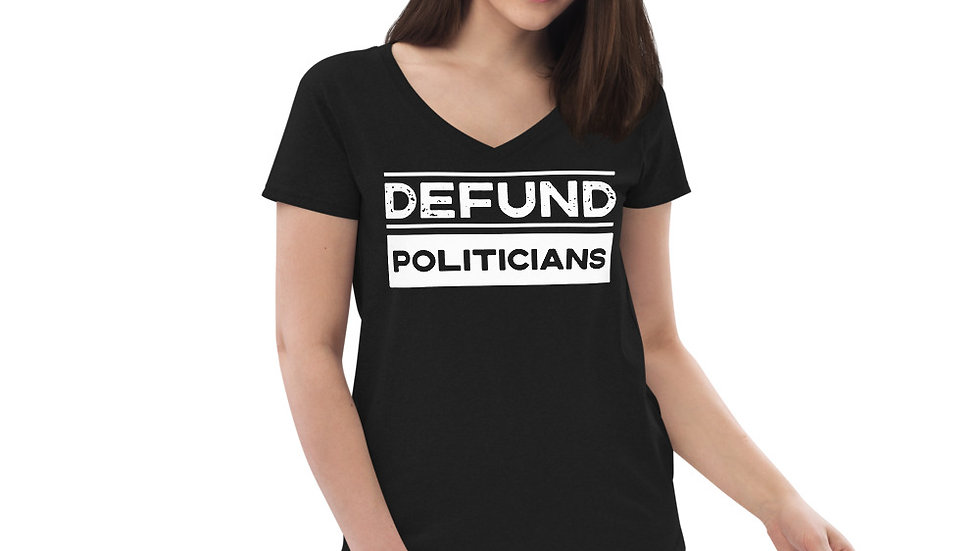 Women's Defund Politicians VNeck