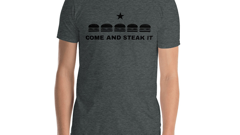 Come and Steak It Men's Shirt Designed by @Meow_Bombs_